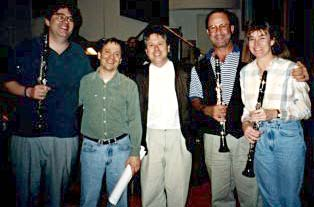 Musicians at the Pocahontas sessions in 1995