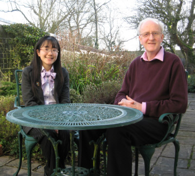 Peter Eaton and Anna Hashimoto in Peter's garden in January 2011