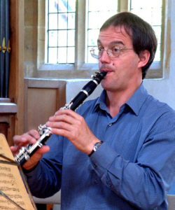 Richard Hosford with his Peter Eaton Elite clarinet
